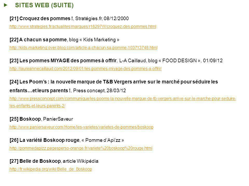 SITES WEB (SUITE) [21] Croquez des pommes !, Stratégies.fr, 08/12/2000